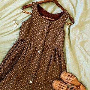 Vintage Brown Midi Dress